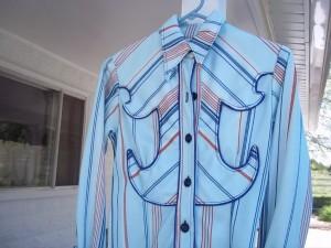 Caption: One of Bobbitt's show shirts with a creative yoke. Photo courtesy of Clea Bobbitt.