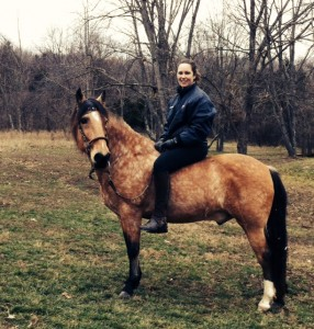 Marci Voorhees and her real life equine companion.