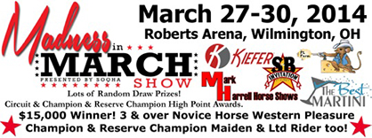 Judges and Showbill Announced For 2014 Madness in March Show, March 27-30 in OH