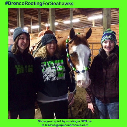 """EC Photo of the Day: A """"Bronc""""o Rooting For the Seahawks"""