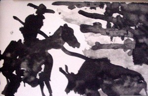 Pablo Picasso's Toros Et Toreros 1959 plate signed lithograph. Image courtesy of Horses Healing Hearts, Inc.
