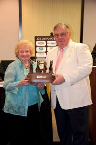 Ms. Barbara Hulsey was inducted to the Pinto President's Hall of Fame