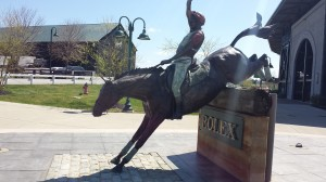 Bruce Davidson statue in from of the Rolex Stadium honors one of U.S. Eventing pioneers.