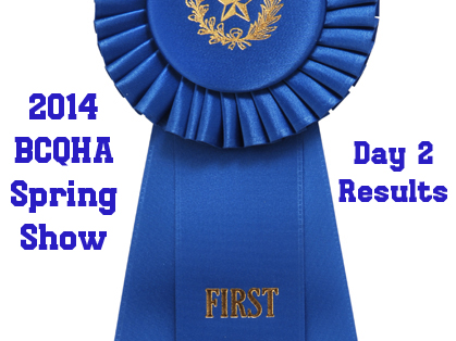 Thursday Results From 2014 BCQHA Spring Show/TX Amateur State Championship