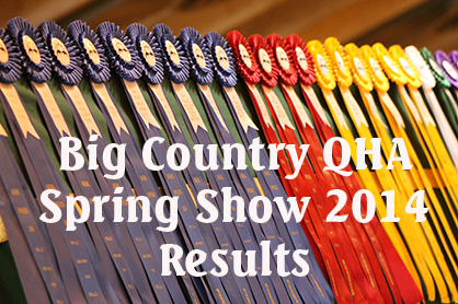 Day 1 Results From 2014 Big Country QHA Spring Show, Waco, TX