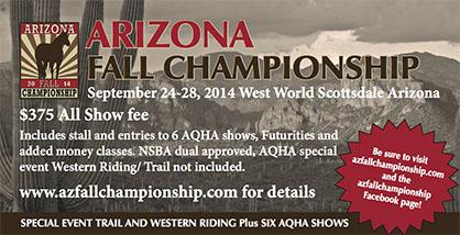 2014 Arizona Fall Championship is One Month Away!