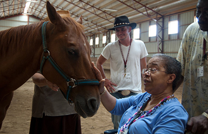First Study of Its Kind Shows Caring For Horses Eases Symptoms of Dementia