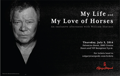 My Life and My Love of Horses- an Exclusive Afternoon With William Shatner