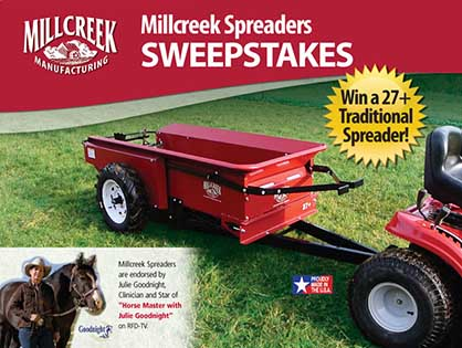 Got Poop? Win a Manure Spreader to Help Finish Your Barn Chores Faster!