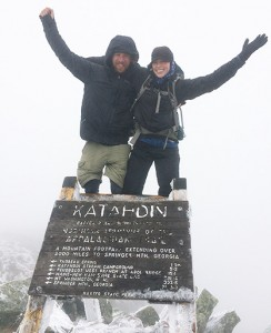 Lauren and Nathan at the top of Katahdin. Photo provided by Equus Foundation.