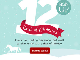 Don't Miss SmartPak's 12 Days of Christmas Email Deals!