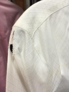 Cramming all of your clothes into one garment bag might not be the best idea; if they are in there for a long time,  holes can develop in your shirts. Photo courtesy Samantha Eckert/Winning Couture.