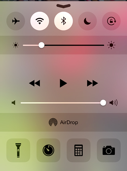 how to add flashlight to iphone home screen