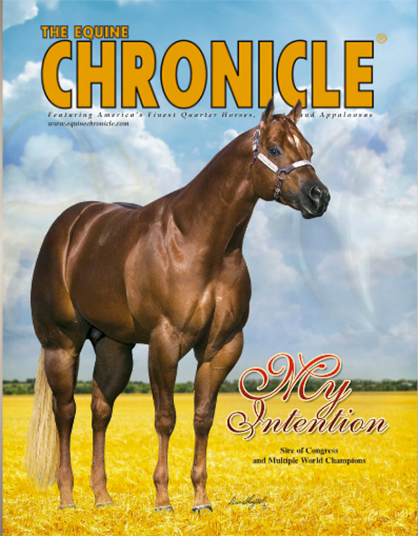 My Intention on the cover of The Equine Chronicle.