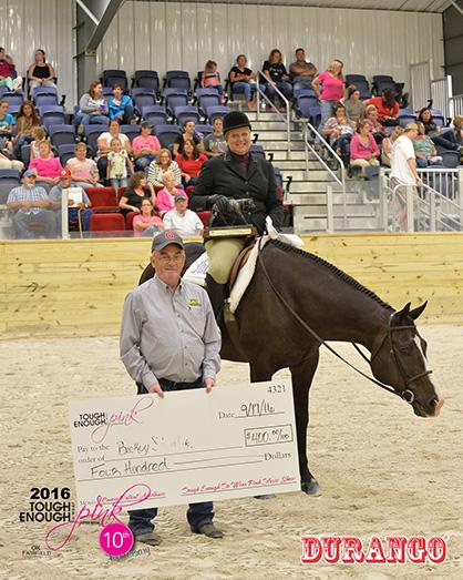 Open JD Equipment Hunter Under Saddle Champion