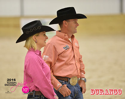 Judges of the Trainers' Pink Challenge, Robin and Laura Schoeller.