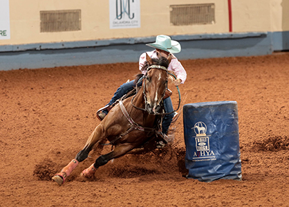 Open Barrel Race At Aqha Youth World Show Equine Chronicle