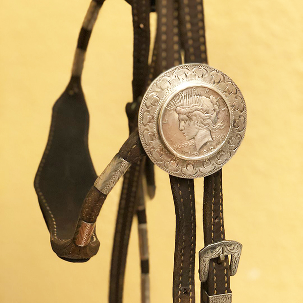 Debbie's headstall she won at the 1976 Silver Dollar Circuit.