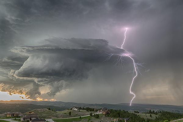 Rapid City, South Dakota lightning