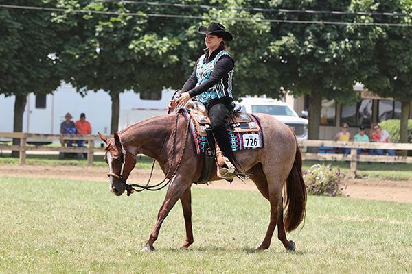 Final Western Pleasure Super Sires Champions are Rebecca Smiecinski and Nancy Wilkerson