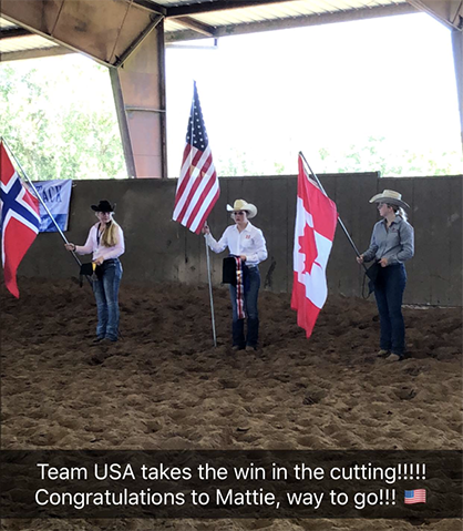 Team USA Blog- A Win During Day 3 at AQHA Youth World Cup!