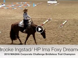 2018 MAQHA Corporate Challenge Bridleless Trail Winning Run
