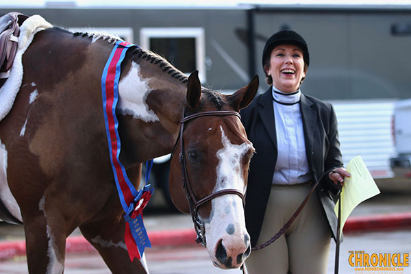 Kokemiller/All About The Goods and Bull/Timeless Assets Win APHA World Amateur Hunter Under Saddle