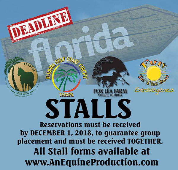 Dec. 1st Stall Reservation Deadline For Florida Winter Shows