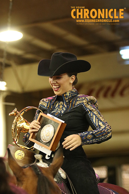 Sarah Orsak and Huntin By Moonlite Win AQHA World Amateur Horsemanship