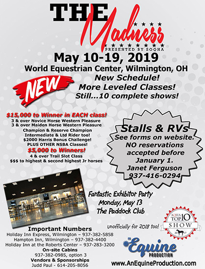 The SOQHA Madness Bringing New Schedule to May 10-19, 2019