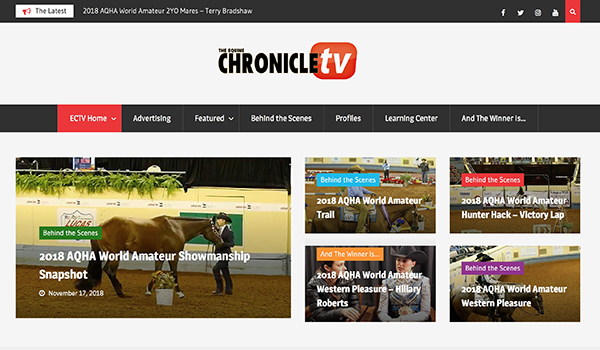 Take a Tour of EquineChronicle.TV
