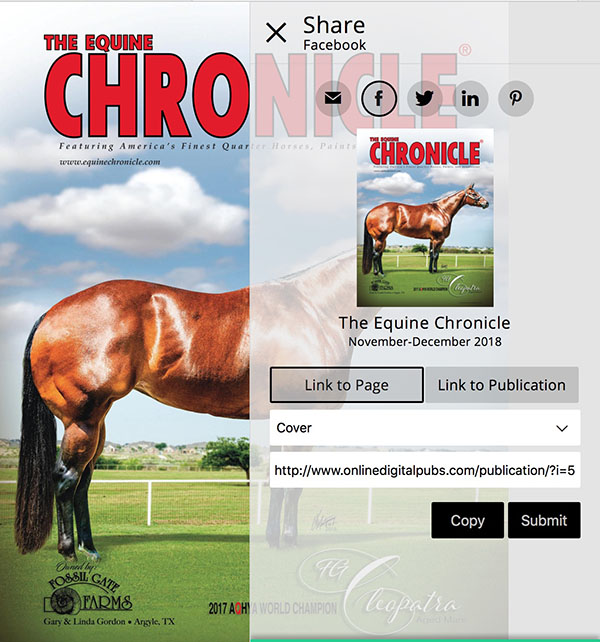 Share Your Equine Chronicle Ad and Articles on Social Media!