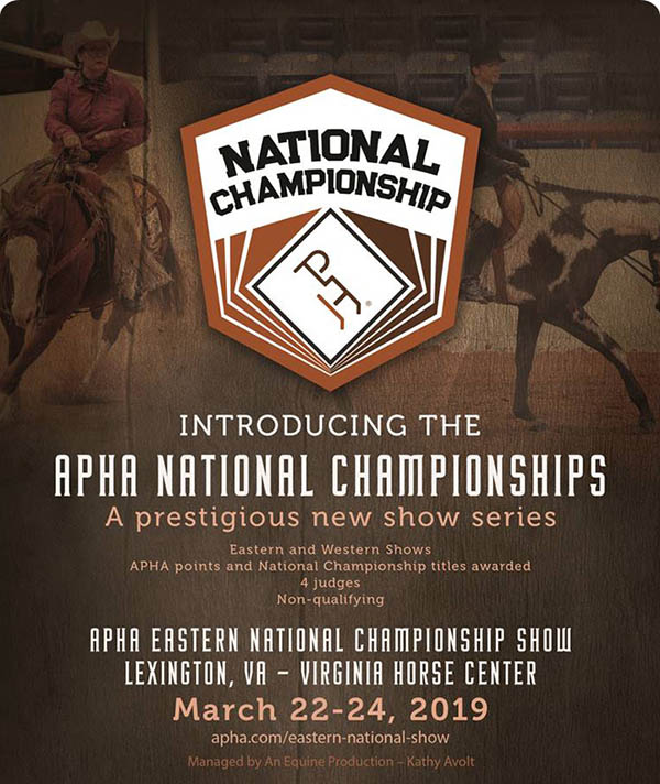 Don't Miss the APHA National Championships!