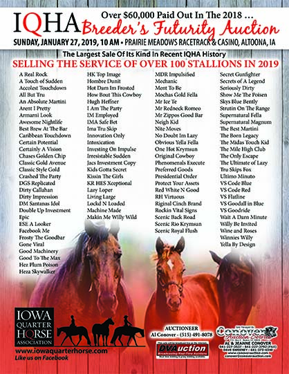 Iowa QH 2019 Breeder's Futurity Auction Gearing Up For Biggest Sale Yet