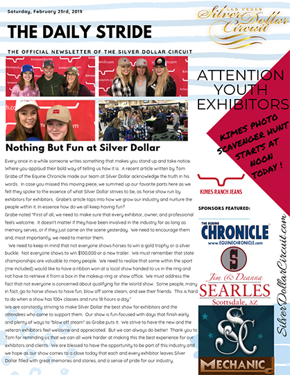 Silver Dollar Circuit- The Daily Stride- Nothing But Fun
