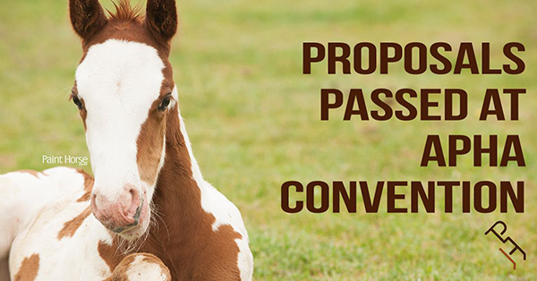 13 Rules Passed at APHA Convention
