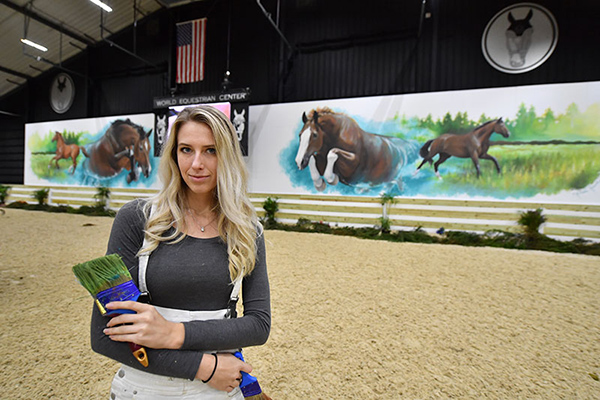 Behind the Creation of Larger than Life-Sized Horse Mural