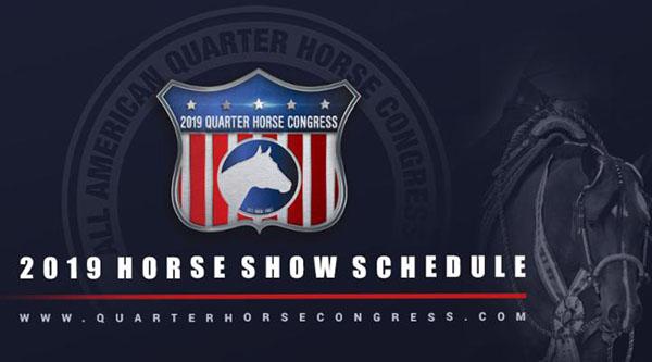 2019 Quarter Horse Congress Schedule Now Online