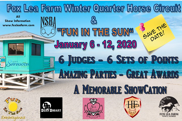 Fox Lea Farm Announces Winter Show Dates For 2020