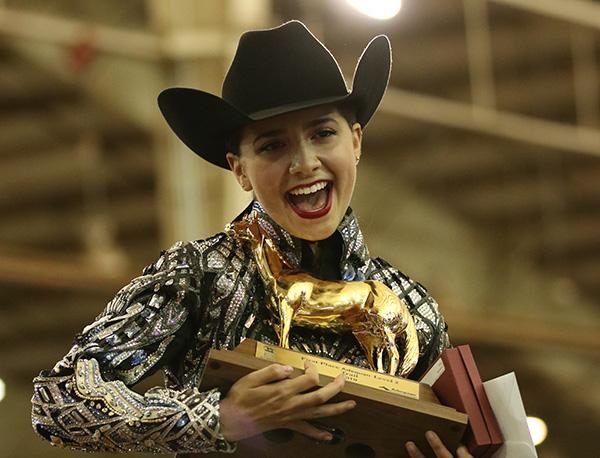 Ariana Cimino/RL Best of Goodbar Win Level 2 Trail at AQHA Youth World
