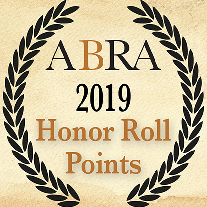 2019 ABRA Honor Roll Points- July