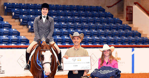 All Ways Lazy Wins 2019 Breeders Trust Non-Pro 3 & 4-Year-Old HUS Stakes at APHA World