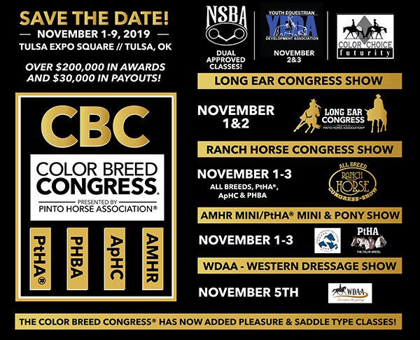Save The Date For 2019 Color Breed Congress