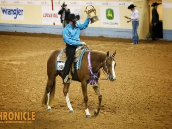 Brian Baker Wins First World Championship With No Doubting Me in Junior Western Pleasure
