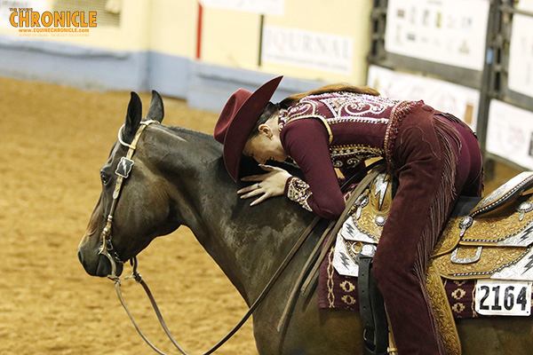 Kelsey Jung and Moonlite Cruiser Win AQHA World Amateur Trail