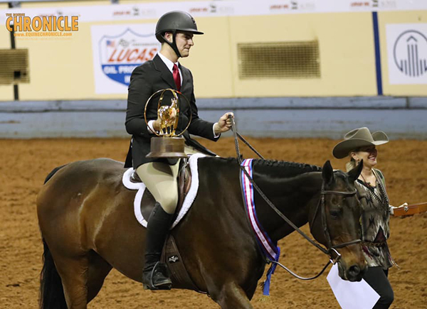 Nicholas Furlong/Executive Hotrodder, Hannah Bedwell/Desert Party Win AQHA World Over Fence Classes
