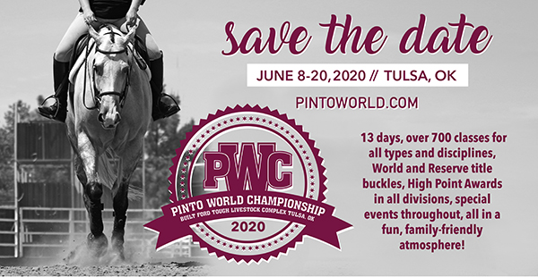 2020 Pinto World Show and Color Breed Congress Dates Announced
