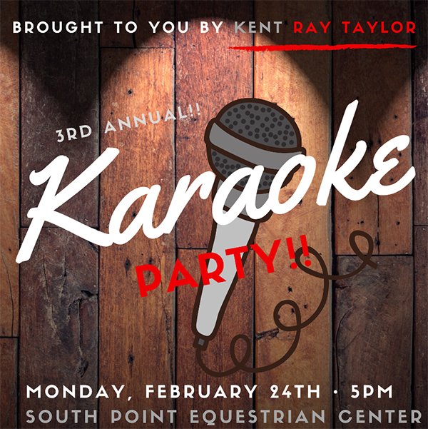 Kent Ray Taylor Presents Karaoke Party, Feb. 24 at Silver Dollar!