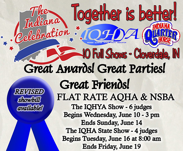 New Joint Show- The Indiana Celebration- Joint Effort of IN Youth Show and State Show