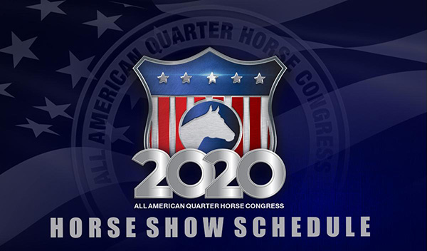 2020 All American Quarter Horse Congress Schedule Released